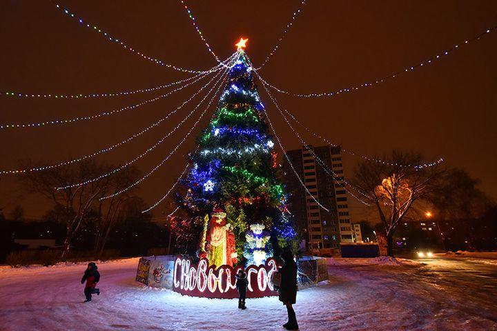 Новогодняя иллюминация в Советском районе